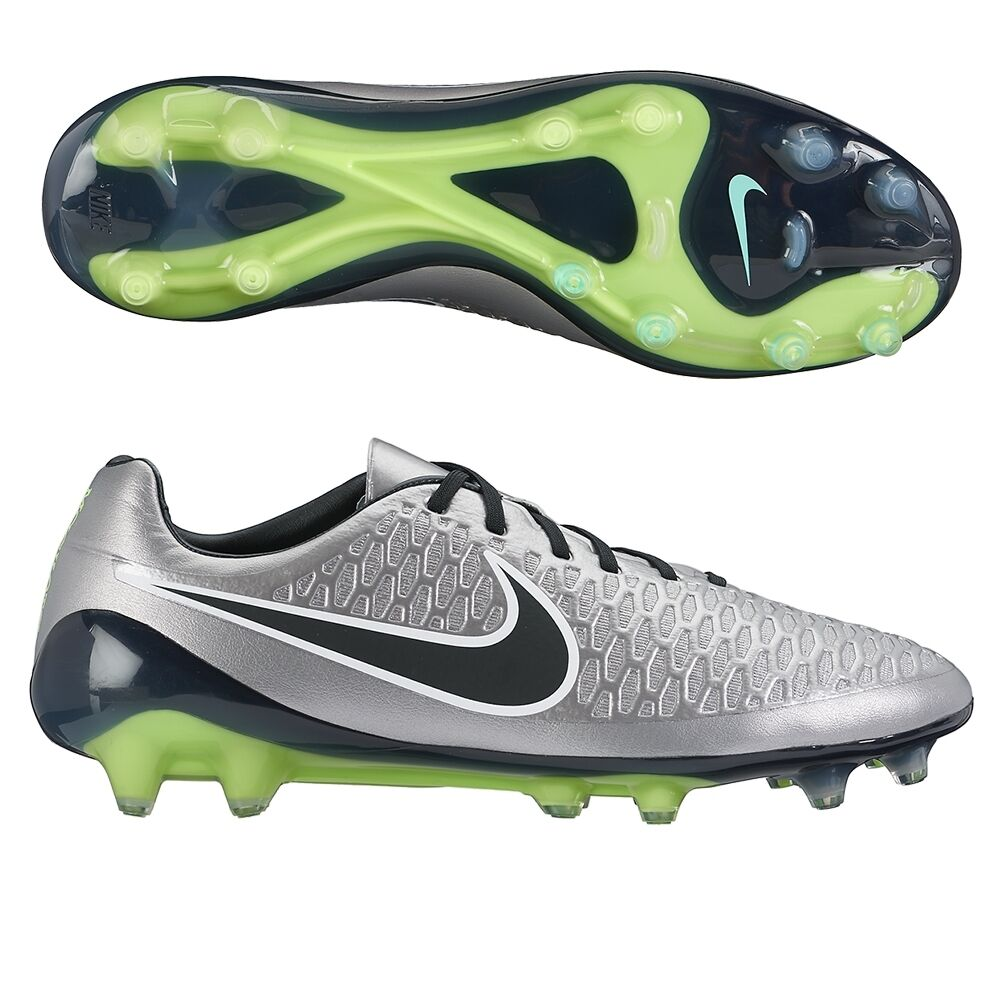 men 6/wmns 7.5 nike magista opus fg cleats 649230-011 pewter/black made in italy