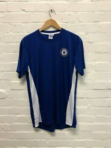 Chelsea FC Official Men/'s Club Poly T-Shirt Large New Blue