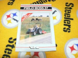 White Field Boss 37 Tractor Dealer/'s Brochure DCPA
