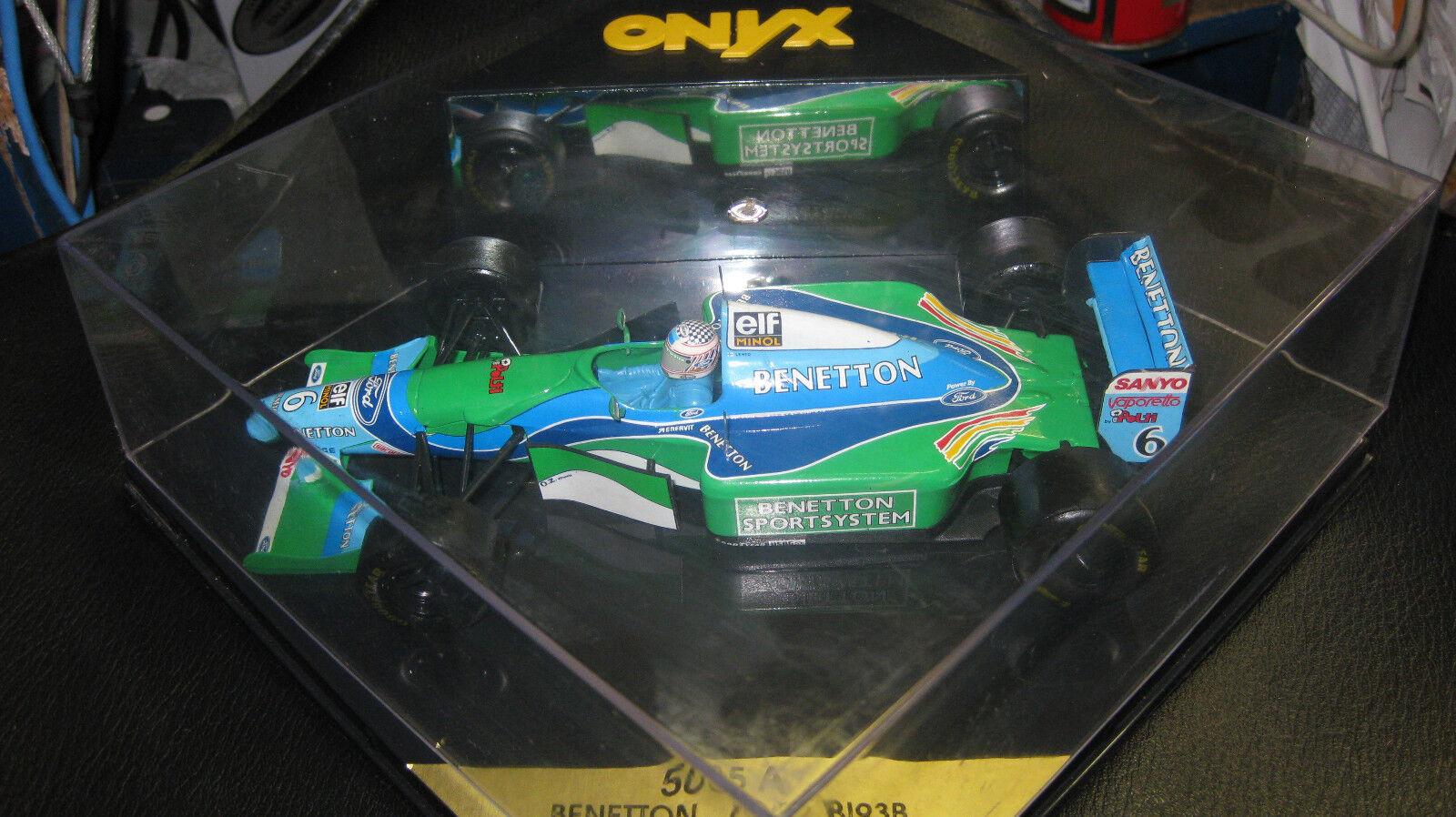 1.24 ONYX F1 BENETTON FORD B 193B J.J LEHTO    6 1994 TEST CAR  OLD SHOP STOCK 37227b