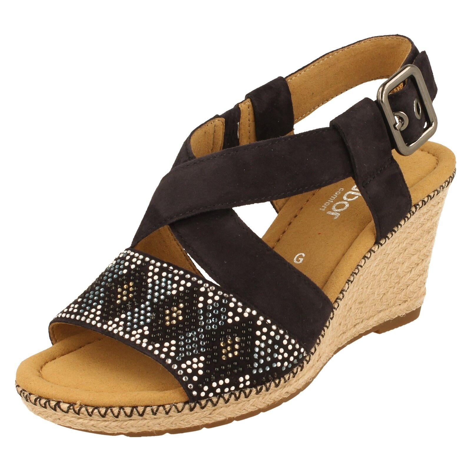 Ladies Gabor Open Toe Suede Sandals - 82.820 Hardwick