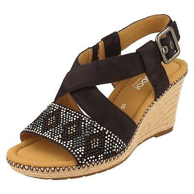 82820 Hardwick Ladies Gabor Open Toe Suede Sandals
