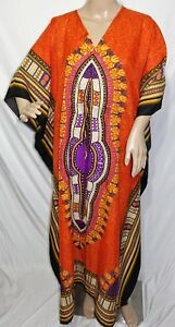 Just Love Women Plus One Free Size Maxi Caftan Tunic Dress Dashiki Cover Up Red
