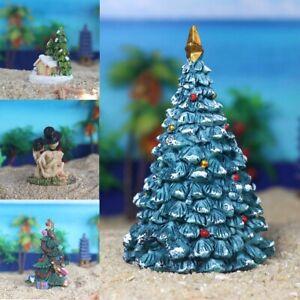 Fish Tank Aquarium Ornament Resin Crafts Christmas House Tree Landscaping Decor Ebay