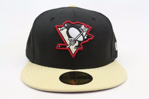 Pittsburgh Penguins Black Sandstone Red White NHL New Era 59Fifty Fitted Hat