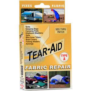 Tear Aid Kit Fabric Repair Tent Sofa Shoe Chair Rip Fix