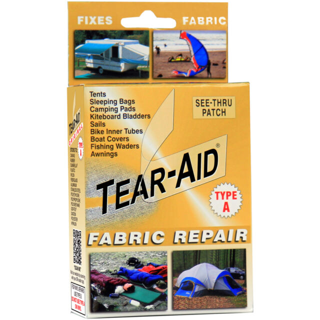 Tear Aid Kit Fabric Repair Tent Sofa Shoe Chair Rip Fix Leather Couch Patch Tape
