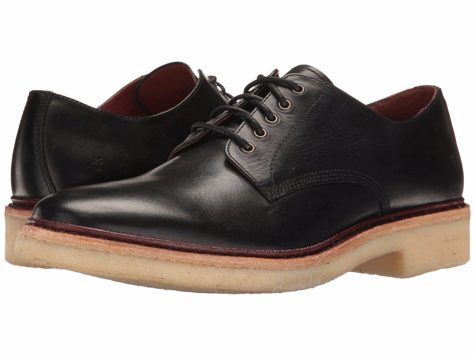Frye para hombres zapatos oxfords Luke Cuero Negro 12 Nuevo En Caja