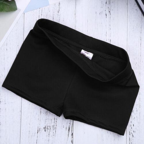 Girls kids stretch dancewear gymnastics swimming shorts hot pants costume 6-14Y