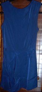 maniche drappeggio 2 Asos con senza taglia nuovo Playsuit Navy 7vzqt