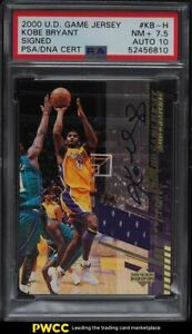 2000 Upper Deck Game Jersey Kobe Bryant PATCH PSA/DNA 10 AUTO #KB-H PSA 7.5