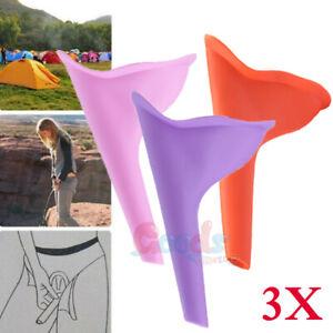 Pink Women Girls Urinal Soft Silicone Urination Device