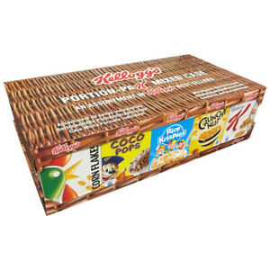 kelloggs 5 variety pack cereals x 7 of each flavour x2 cases 70