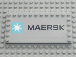 RARE-LEGO-MdStone-tiles-ref-6178-Stickers-94765-Set-10219-Maersk-train