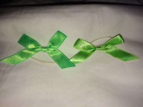 Build a Bear Light Green FurBows