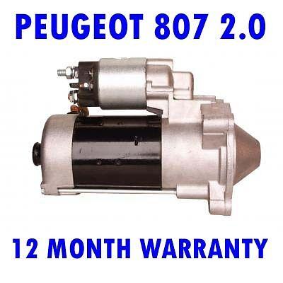 Peugeot 308 407 2.0 2007 2008 2009 2010 2011-2015 starter motor