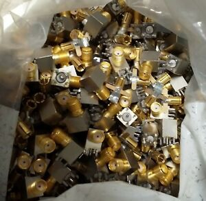3.85lb of Mil Spec radio connectors for gold recovery