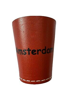 Personalised Leather dice cup Perudo Yahtzee..!!! Casino Games Quiet Shaker