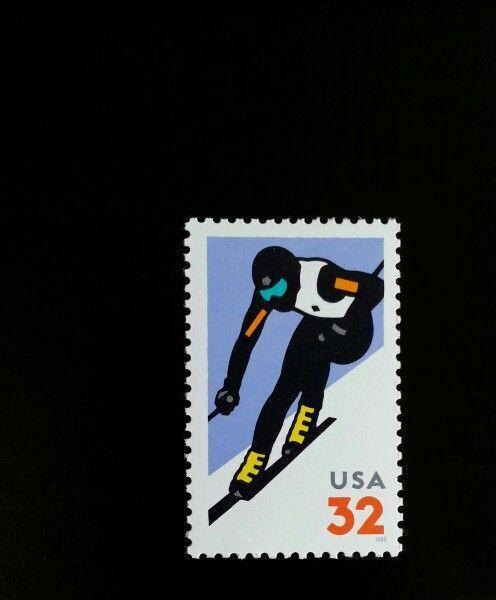 1998 32c Alpine Skiing Scott 3180 Mint F/VF NH