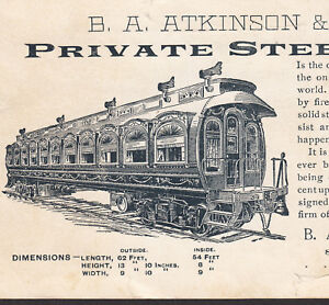 Robbins-Cylindrical-Steel-Passenger-Car-Co-Atkinson-Railroad-Train-Card-Boston