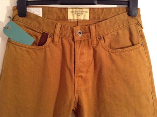 Bnwt Paul Auth Mustard Yellow Smith Rrp Jeans 100 £170 Mens 30 Brown Tan r5Eqrwx