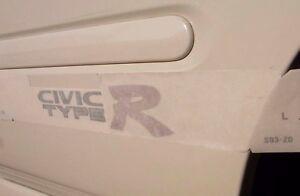 JDM-OEM-HONDA-Type-R-TypeR-CIVIC-EK9-Right-Side-Sticker-Decal-Emblem-NEW-Japan