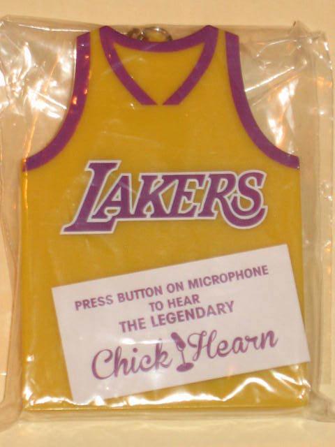 a772277d4ed Chick Hearn Los Angeles Lakers Jersey Audible Keychain talking key chain  kobe LA
