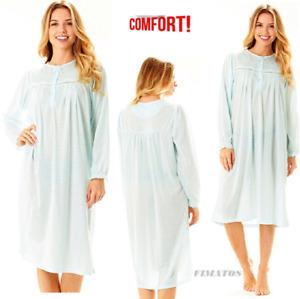 f99acb99683c Details about Women Long Sleeve Cotton Night Gown Sleepwear Sleep Dress  Nightshirt(5X