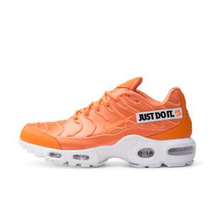 air max plus orange and white