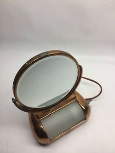 Vintage Art Deco Make Up Vanity Lighted Mirror Acme