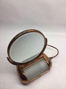 Vintage Art Deco Make Up Vanity Lighted Mirror Acme