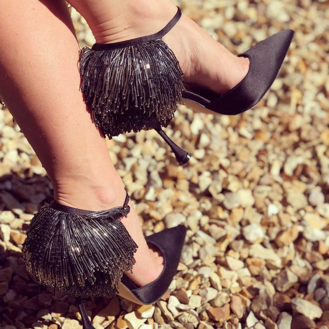 1265 NEW Manolo Blahnik FRANCAMARIA Satin Black shoes 36.5 37 37.5 39 40 41