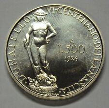 ITALIA REPUBBLICA 1986  500 LIRE DONATELLO DA DIVISIONALE ZECCA FDC