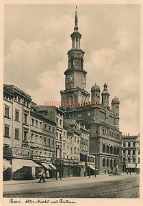 Ak-Posen-Alter-Markt-mit-Rathaus-1941-A-1042
