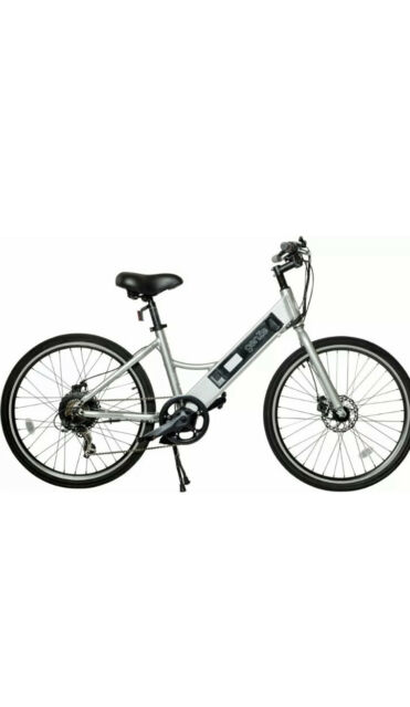 GenZe - e101 Sport Rec Riser Electric Bike Silver 350 wattsv 16-102-SIL-350-SKD