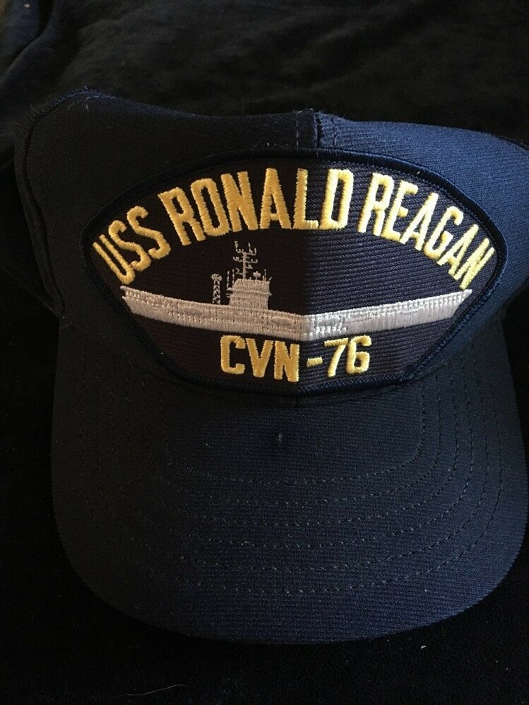 USS RONALD REAGAN CVN-76 Navy Ship U.S Cap Military Snap Back Ball Cap U.S USA Made 1491e9