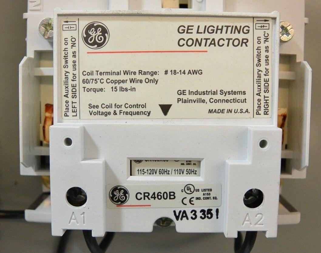 12 Pole GE Lighting Contactor CR460B 30 Day Guarantee Ge Lighting Contactor Wiring Diagram on