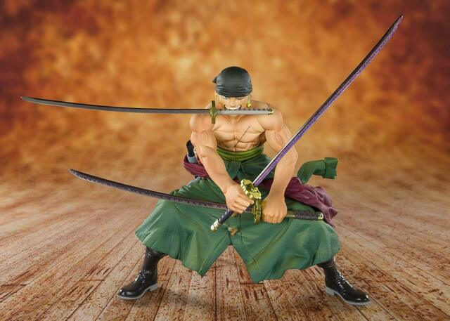 Bandai Figuarts Cero One Piece Pirata Hunter Zoro Figura Japón Oficial Importado