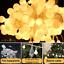 SERIE-LUCI-100-LED-LAMPADINE-FESTE-PARTY-DECORAZIONI-ADDOBBI-NATALE-BIANCO-CALDO miniatura 5