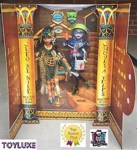Monster-High-Cleo-De-Nile-amp-Ghoulia-Yelps-Exclusive-2-Pack-Featured-SDCC-Set-NEW