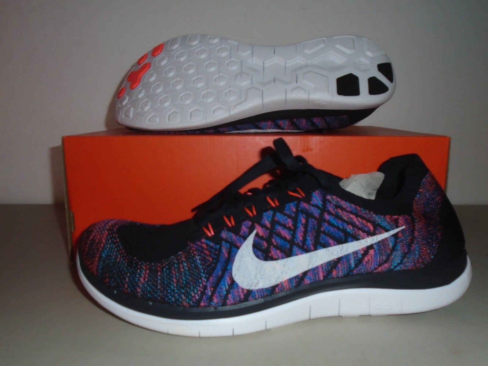 New Nike Free 4.0 Flyknit Dk Obsidian Hot Lava Running Shoes sz 10 durable  modeling ede96b5f8