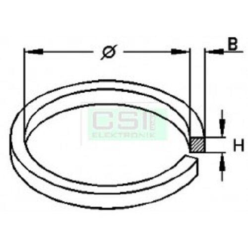 2 Vierkantriemen Riemen für Tape CD usw 43,5 x 2,0 mm NEU 020053