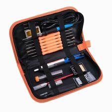 Electric Soldering Iron Tool Kit 60w Welding Gun Desoldering Pump With Carry Case
