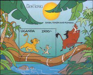 Uganda-1994-DISNEY-RE-LEONE-034-034-Simba-Timon-Cartoni-Animati-Animazione-Film-1v-M-S-b914