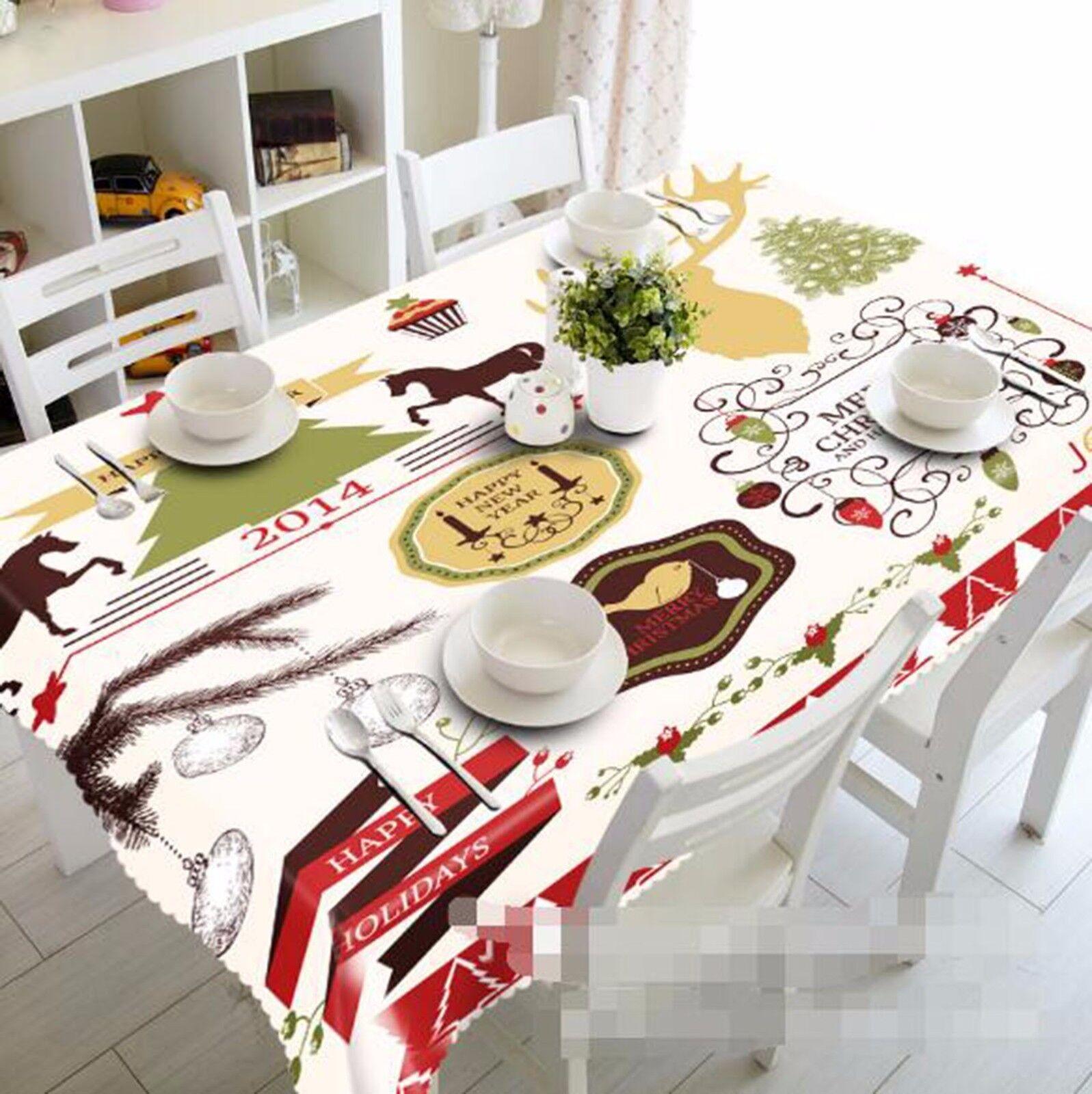 3D Pattern 52 Tablecloth Table Cover Cloth Birthday Party AJ WALLPAPER UK Lemon