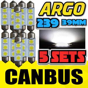 10 239 272 C5W 10PC ERROR FREE FESTOON WHITE INTERIOR LIGHT BULBS SMD LED 6W CAR