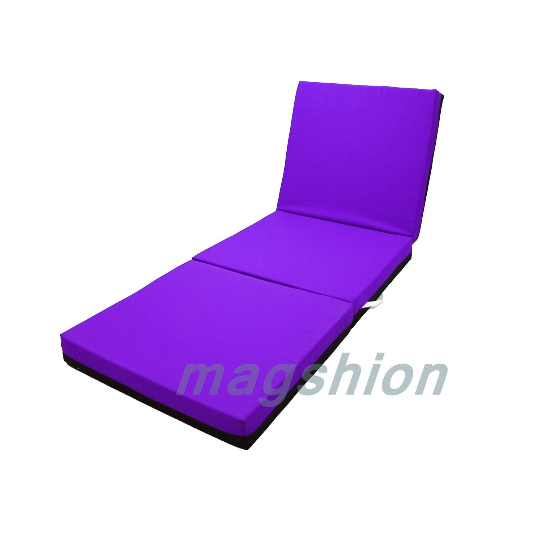 comfort firm memory foam folding mattress trifold fold single twin full queen 4 ebay. Black Bedroom Furniture Sets. Home Design Ideas