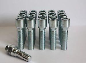 5 x M14X1.5 Bulloni conici 30 mm CERCHI IN LEGA ADATTA PER VW PASSAT PHAETON POLO