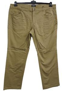 Nuovo-Taglie-Forti-Uomo-Pantaloni-Stretch-Beige-Permanente-Sitzfalten-Inchgr-40