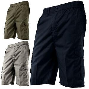 PANTALONCINI-uomo-BERMUDA-pantaloni-corti-cargo-cotone-capri-nero-grigio-beige